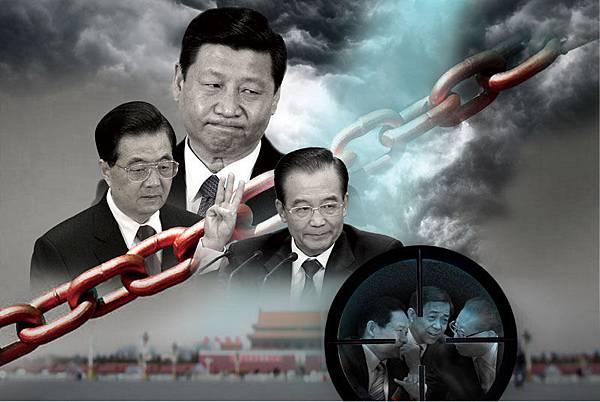 有北京高層消息人士曾透露,2012年3月18日的「法拉利事件」實質是「令計劃的兒子遭到政治謀殺,曾慶紅、周永康藉此施放恐怖,威脅高層其他人對薄熙來案『收手』」。令計劃是胡錦濤的「大內總管」,江澤民的眼中釘,江派對其恨之入骨,令和江之間的激烈對陣,開始於令計劃協助胡錦濤打掉江的隔代接班人陳良宇,讓江系大傷元氣。  周永康等江派一系列的「奪權暗殺」行動,也讓習近平之後加入了胡、溫的「倒薄」聯盟。  周永康刺殺胡錦濤幾次都沒有成功  此外,消息還稱,周永康和江澤民還策劃、安排軍中的親信刺殺胡錦濤。  自2002年胡錦濤上台以來,胡、江10年展開奪權生死搏擊。2002年,江澤民退休之際,心有不甘地交權給鄧小平隔代指定的接班人胡錦濤後,就一直在幕後干政,「十六大」暗控「軍變」,推羅幹進常委,自己賴在軍委主席位置上;「十七大」又推親信周永康進常委,擴大周永康政法委的權力,成為「第二中央」。  這是因為江澤民1999年發起的鎮壓法輪功運動,遭到黨內外不同程度的反對,恐懼將來被清算的「奪權」行動。由此發生了多次暗殺胡錦濤未遂事件,海外媒體公開報導的刺殺行動就有3次。  1、2006年5月初,胡錦濤秘密來到青島,視察北海艦隊。當胡乘坐中共一艘導彈驅逐艦到黃海視察北海艦隊時,發生意外,同時兩艘軍艦向胡乘的導彈驅逐艦開火,打死驅逐艦上五名海軍戰士,導彈驅逐艦立即載胡馳離艦隊演習海域,直到安全海域,胡換乘艦上的直昇飛機飛回青島基地,未作停留,也未回北京,直飛雲南,一星期後,北京一切安排妥當,才回北京。  2、2007年10月2日,上海世界夏季特殊奧運會開幕。胡錦濤出席開幕式,來自全世界160多個國家和地區的1萬多名特奧運動員、教練員共聚黃浦江畔。胡錦濤在上海西郊賓館宴請出席2007年世界夏季特奧會開幕式的國際貴賓。  據悉,保衛部門在胡錦濤下榻的上海西郊賓館地下車庫內發現在食品專用車的司機坐墊下藏有2.5公斤裝有定時器的烈性炸藥。港媒稱,上海灘是江的老巢,從刺殺動機來看,系江澤民死黨所為。  3、2009年4月23日,中共海軍史上規模最大的多國海上閱兵活動在青島海域舉行。在閱兵開始之前,胡得到密報:江澤民的人馬準備在23日早上9點開始閱兵時,在14國海軍艦艇的面前把胡擊斃,搞個震驚世界的「黃海謀殺案」。  胡突然改計劃,先會見29國海軍代表團團長。同時派軍中心腹將企圖弒君的海軍艦艇官兵搞定。12時左右,胡身著西裝開始了閱兵。儘管胡錦濤平安無事,但無法壓抑自己的憤怒。在青島出席海上閱兵活動,旁邊站著的軍委第一副主席、江的親信郭伯雄行軍禮時,手瑟瑟發抖。  由於王立軍2012年2月出逃,薄、周政變計劃意外曝光,王立軍上司薄熙來隨之倒台,而周永康一直在力挺薄熙來。之後周永康殺人害命、淫亂、利用公權力買官賣官,其本人及家族巨額貪腐等等醜聞滿天飛。不但政變刺殺計劃破產,周本人也被傳遭中共高層秘密調查,海外媒體聚焦其甚麼時候被宣佈下台。  薄、周政變及抹黑習近平、溫家寶  周永康等江派人馬不甘心失敗,針對「倒薄」的主要推手、同時也是力主「調查周永康等人活摘罪行」的溫家寶,持續通過各種渠道放出假消息。  2012年10月,周永康通過特務釋放出來的抹黑溫家寶的材料,部份內容出現在10月26日《紐約時報》的頭版文章上。《紐約時報》稱,一些媒體最近收到關於溫家寶家人巨額財富的不名郵件,造成轟動。有海外中文網站說,最近數家海外華文媒體和多家英美主流媒體都收到攻擊溫家寶的重磅材料。此舉被認為是中共高層「抹黑鬥爭」到白熱化的一個標記。  就在《紐約時報》發表報導數小時後,中共官媒於10月26日深夜通報了薄熙來因涉嫌犯罪被立案偵查並採取強制措施,薄熙來也被終止了人大代表資格。然後溫家寶家人委託律師發表公開信澄清。  此外,針對薄、周的「政變對像」習近平,《彭博社》此前也報導,收到的所謂習近平家族「斂財數億美元」的曝光材料有1,000多頁。不過,彭博社後來進行了反覆的調查和分析之後發現這些材料有很多錯誤,如,將習近平親屬控股公司的母公司的財產全部算到他們名下。彭博社承認這些材料不能證明習近平曾用個人權力幫家族謀利,沒找到習近平家族任何不正當經營的證據。  《大紀元》曾報導,「抹黑」消息在2007年就已被公佈出來,本身就是薄熙來和周永康政變計劃中抹黑溫家寶的一部份,這項部署是與百度總裁李彥宏聯手進行,還包括相當部份抹黑習近平家族的資料。  百度深度捲入北京高層內鬥  2012年4月《大紀元》獨家披露,中國互聯網大企業「百度搜索」,過去幾年深度捲入北京高層內鬥,由薄、周操控下,悄悄在互聯網上發起抹黑胡錦濤、溫家寶及習近平3人的活動。報酬是迫使谷歌退出中國業務,使百度一家獨大。百度重慶業務主管後被中紀委控制調查,並供出大量驚人內幕。  2010年3月,薄熙來、周永康先後接見百度總裁李彥