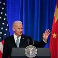 圖:拜登5日出席由美國商會舉辦的商界領袖會議。(圖源:Lintao Zhang/Getty Images)