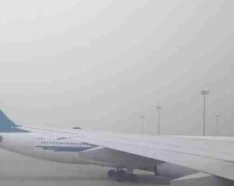 圖為窗外的北京機場。(網絡圖片)