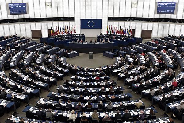 在2013年12月12日,歐洲議會最後一次全體最大會在法國斯特拉斯堡舉行。(FREDERICK FLORIN/AFP/Getty Images)