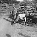 淞滬會戰國軍在郊區構築工事。(網絡圖片)