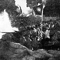 「八一三」淞滬抗戰中徹夜血戰中的國軍陣地。(網絡圖片)
