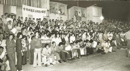 1977年10月28日警廉衝突。當年廉署風暴數千警務人員在花墟大集會。