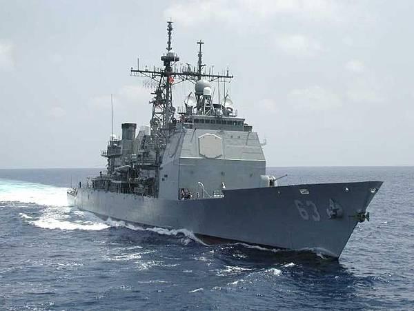 美國導彈巡洋艦「考彭斯號」 (USS Cowpens)。(資料圖)