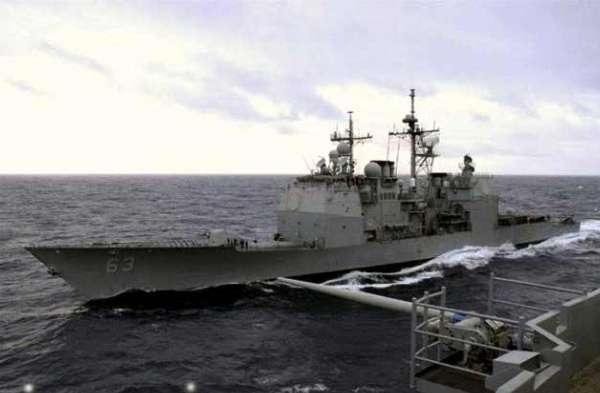 在「東海防空識別區」漸漸淡入視線,「逮捕周永康」成為中國時局焦點之際,美國媒體曝光在副總  統拜登訪華的時候,中共出動一艘小型軍艦攔截美國導彈巡洋艦,導致「中美軍艦險些在南海相撞」  。(資料圖)