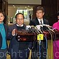 香港民主黨解釋普選聯「三軌制」方案非缺一不可。(潘在殊/大紀元)