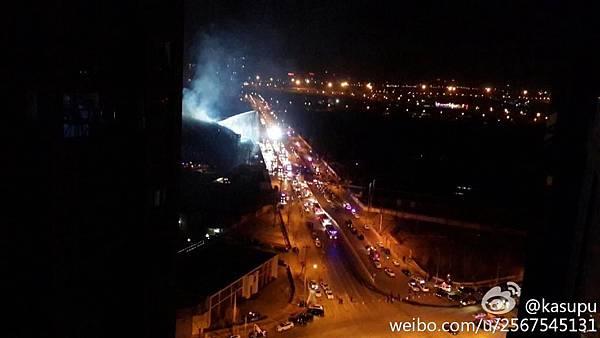1月11日晚,北京朝陽區太陽宮地區發生重大火災。(網絡圖片)
