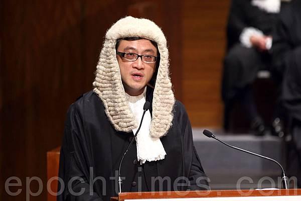 香港大律師公會主席石永泰指,「法治」的根基有賴於社會整體的道德意識和公民素質「集體良知」。(潘在殊/大紀元)