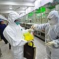 大陸H7N9禽流感疫情持續升溫,除浙江、廣東等南方省份病例持續增加外,疫情日前已北上攻入北京,令京民恐慌,當局稱將關閉全部活禽市場。圖為,2014年1月26日,上海市區最大的活禽零售點三角地水電市場,虹口區疾控中心專家正在進行涉禽樣品採樣。(大紀元資料室)