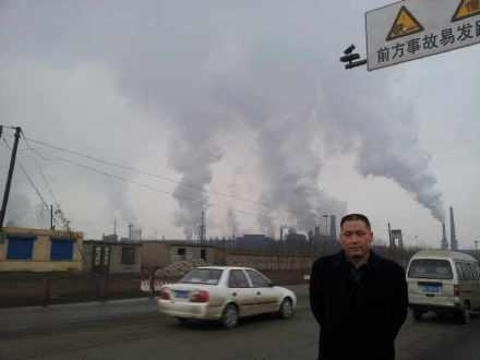 浦志強律師過年回老家河北灤縣,他稱這是文明生態村的人造蘑菇雲,飄雲京城指日可待。(網絡圖片)