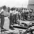 圖為,炮戰中受傷的國軍。(網絡圖片)