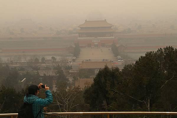 圖為,2月24日,從北京景山姚望故宮。(大紀元資料室)