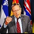 加拿大自由黨國會議員、前司法部部長歐文•考特勒( Irwin Cotler)先生希望通過私法法案與政府合作,為國際上人權受到侵害的人們「打破沉默」,希望此項法案成為立法。同時提出的十項行動計劃包括,讓聯合國把共產中國等踐踏人權的國家從聯合國人權理事會開除。(攝影/大紀元)