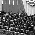 3月3日的中共政協會議上,伊斯蘭代表馬長慶始終坐在座位上,拒絕起立默哀,被外界聚焦。(網絡圖片)