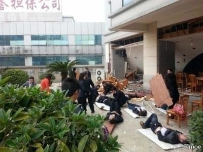 3月3日中午,廣東東莞中石化東莞石油公司員工餐廳發生爆炸事故,造成1人死亡、31人受傷。圖為事發現場。(網絡圖片)