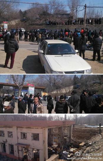 圖為河北唐山開灤(集團)化工乳化工場爆炸現場。(網絡圖片)
