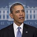 美國總統奧巴馬16日告訴俄羅斯總統普京,美歐將讓俄羅斯因支持克里米亞公投而付出代價。(SAUL LOEB/AFP)