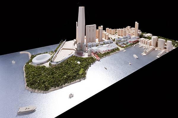 西九龍填海計劃是香港歷來在市區進行的最大規模填海工程,它把九龍半島的面積擴展了三分之一,並將海岸線向海港伸展,延展最多的部分達一公里。(網絡圖片)