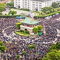 超過50萬名反服貿群眾3月30日穿黑衣上凱道,表達反對黑箱服貿協議的訴求。(陳柏州/大紀元)