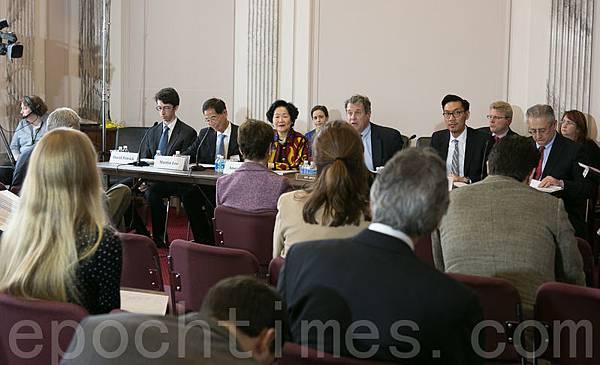 陳方安生與李柱銘訪美,國會關注香港民主自由。(李莎/大紀元)