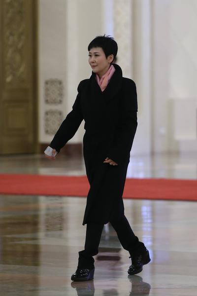 4月7日,有港媒報導,李鵬之女李小琳上週五接受其獨家專訪,對有關海南圈地傳聞做出回應。圖為,2014年3月7日,李小琳參加北京中共兩會。(Feng Li/Getty Images)