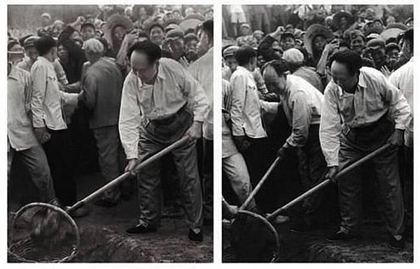 毛澤東身邊的官員被刪去。(網絡圖片)
