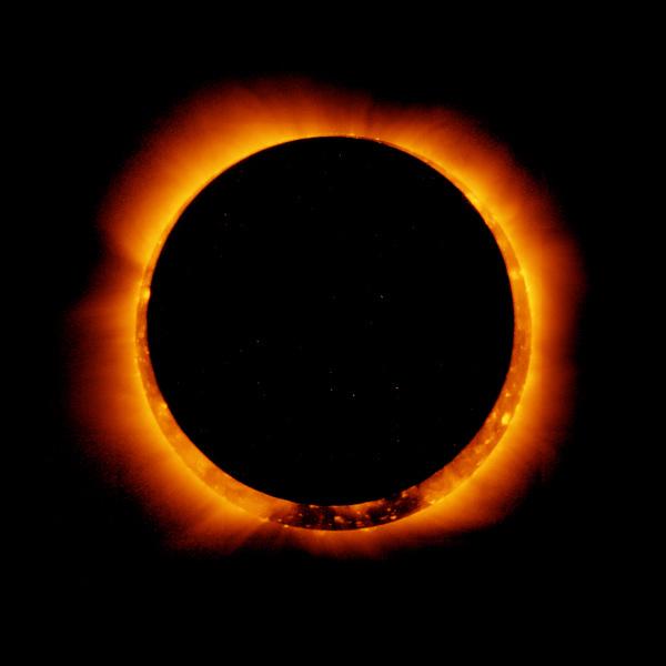 4月29日將出現如同「火圈」般的日環蝕現象。圖為美國國家航空航天局先前拍攝到的日環蝕。(圖片來源:NASA)