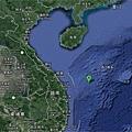 「海洋石油981」號鑽井平台所在作業位置。(網絡圖片)