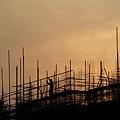圖為江蘇南通海安一房產建設工地。(大紀元資料室)