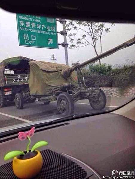 大批軍隊進駐廣西崇左市(網絡圖片)