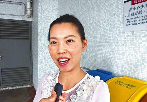 張小姐:「對林發耿唔太認識,議員有婚外情,誠信有問題,佢再參選絕對唔會投佢一票。」