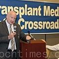 7月29日晚,在舊金山舉行的「移植醫學的十字路口:呼喚良知」研討會上,《失去新中國》作者伊森‧葛特曼(Ethan Gutmann)發言。(馬有  志/大紀元)