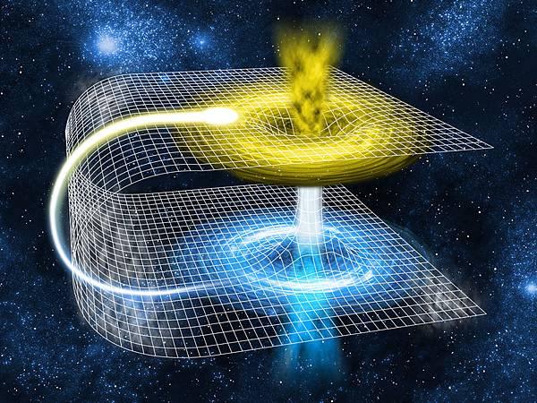 一位來自英國劍橋大學的物理學家認為,在理論上,實現時空穿越是有可能的,如果薄薄的蟲洞保持打開狀態時間夠長的話,人們便可以使用光脈衝穿過時空傳遞訊息。(fotolia)