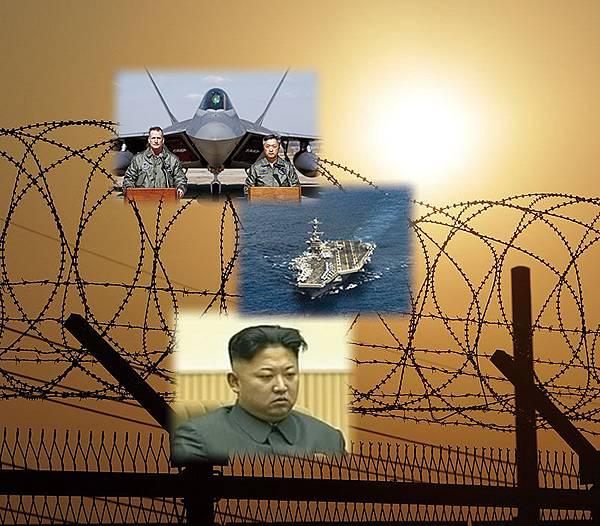 美國派遣核動力航母「約翰.斯坦尼斯號」及4架F-22「猛禽」隱形戰機趕赴朝鮮半島附近。有分析指,美國可能將3月舉行的美韓軍演變成「斬首金正恩」的軍事行動。另有觀點認為,中共可能會搶先對金正恩下手,以免北韓變色衝擊中國大陸。(Getty Images)