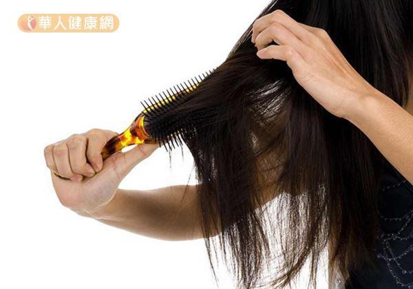 掉髮體質問題多。(華人健康網)