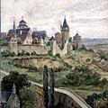 希特勒青年時代愛好繪畫,曾投考美術學院差一點被錄取。這是他的風景畫。