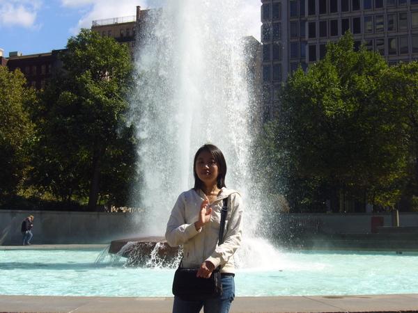 小公園裡的噴泉