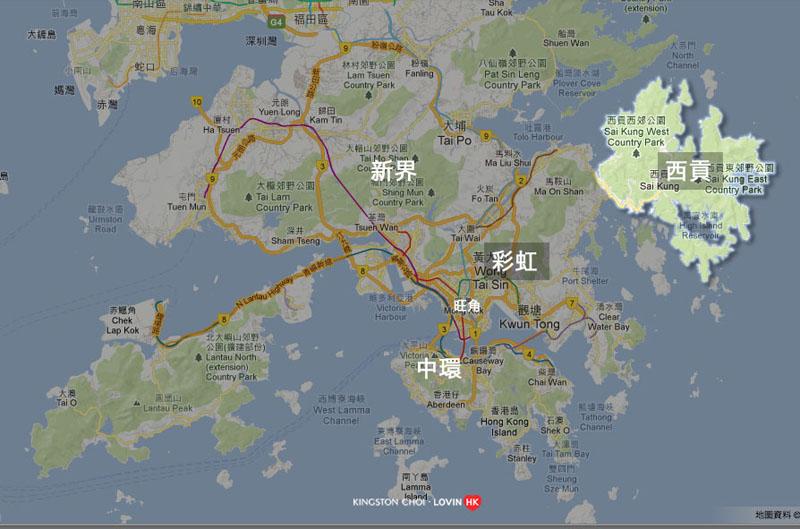 西貢 Map