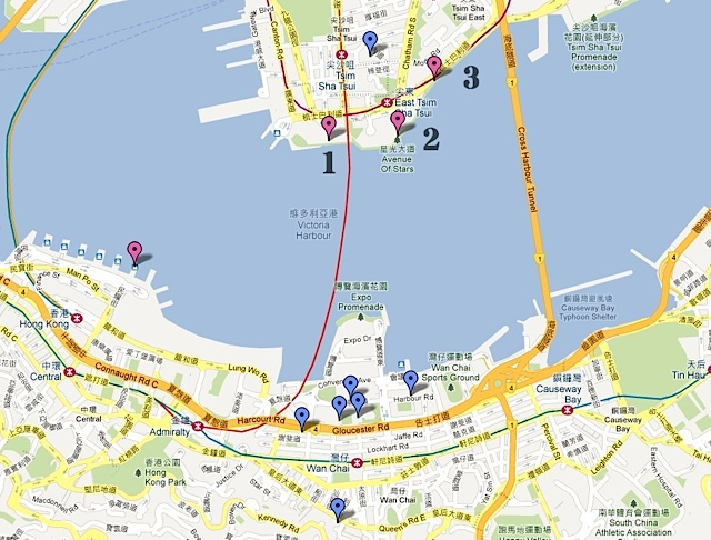 香港 跨年煙火 地圖