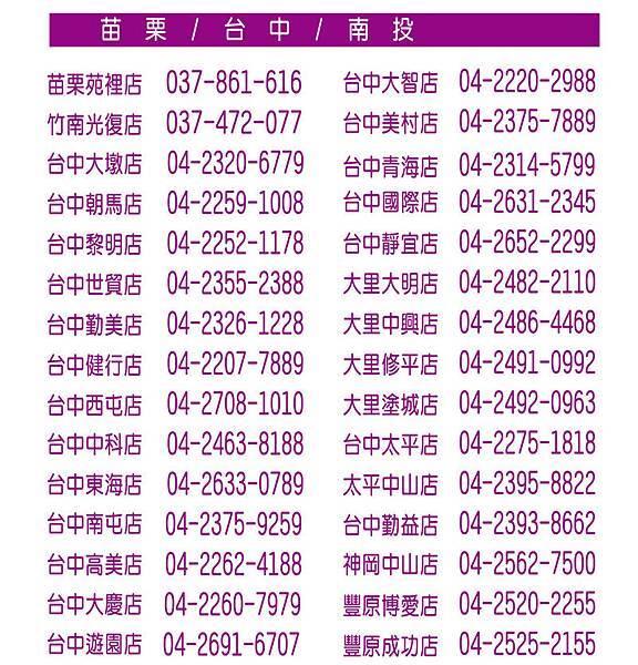 店家連絡電話04130002