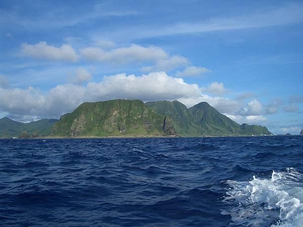 從海上看這個島嶼