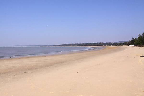 料羅海邊公園美麗的沙灘