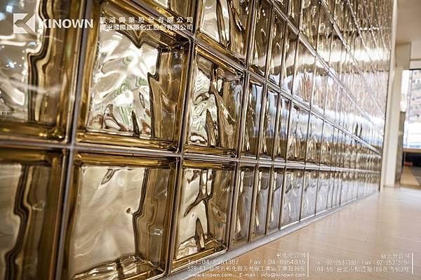 櫻王玻璃磚 Q19 O MET 棕黃色-3