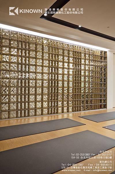 櫻王玻璃磚 Q19 O MET 棕黃色-5