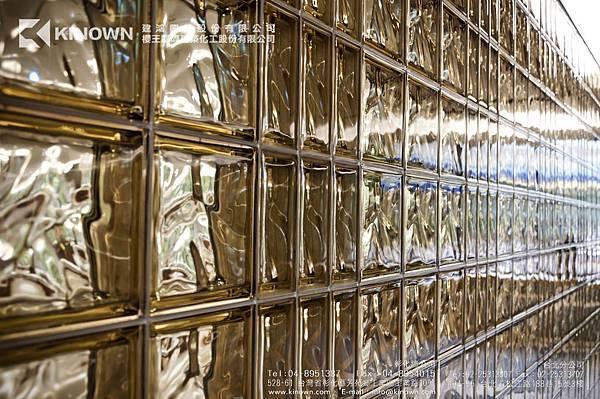 櫻王玻璃磚 Q19 O MET 棕黃色-6