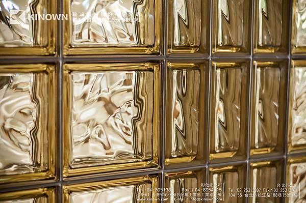 櫻王玻璃磚 Q19 O MET 棕黃色-8