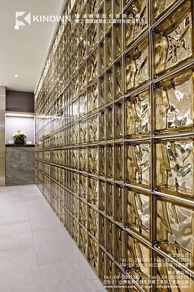 櫻王玻璃磚 Q19 O MET 棕黃色-9