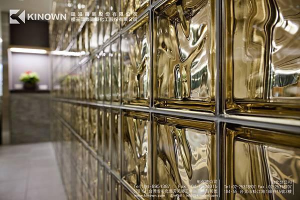 櫻王玻璃磚 Q19 O MET 棕黃色-10