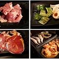 炭火燒肉本舖 肉盤 蔬菜 魚