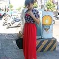 淘寶 飾女巫 平口長洋裝 大紅